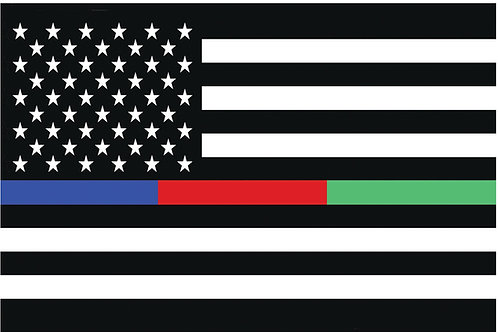 USA Thin Blue Red Green