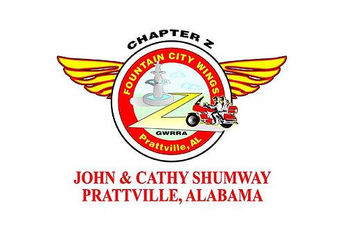 Alabama, CH-Z  Motorcyle  Flag