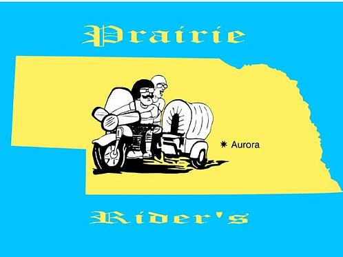 Prairie Riders Motorcyle  Flag