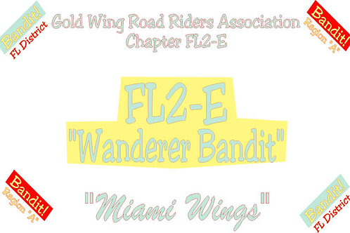 Florida, Ch-FL2-E  Motorcyle  Flag