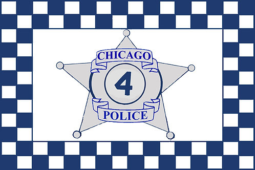 Chicago Police Motorcycle Flag