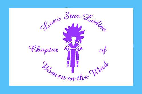 Lone Star Ladies Motorcyle  Flag