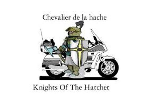 Knights of the Hatchet  Motorcyle Flag