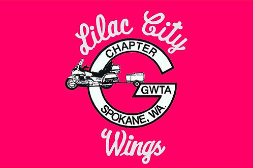 Lilac City Wings  Motorcyle  Flag