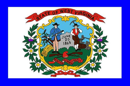 West Virginia Motorcycle flag
