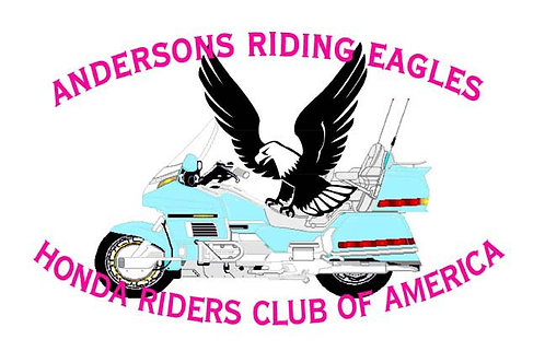 Anderson Riding Eagles Motorcyle Flag
