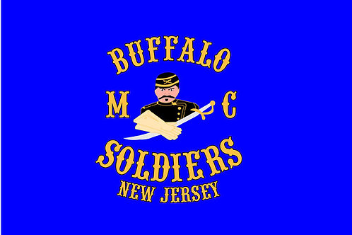 Buffalo Soldiers NJ Motorcyle Flag