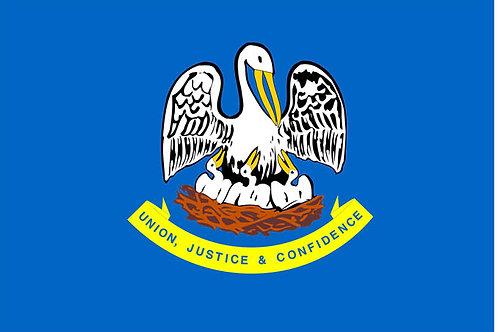 Louisiana Motorcycle flag