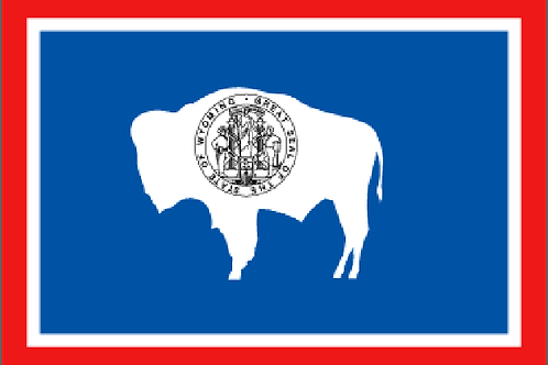 Wyoming Motorcycle flag