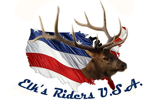 Elks Riders Motorcyle Flag