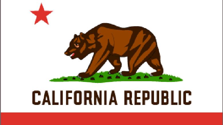 California Motorcycle flag