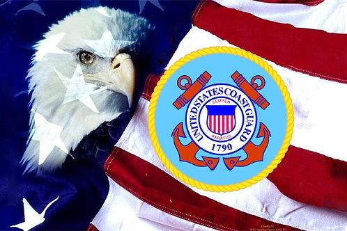 Coast Guard Eagle Flag