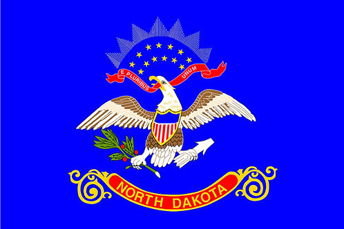 North Dakota Motorcycle flag