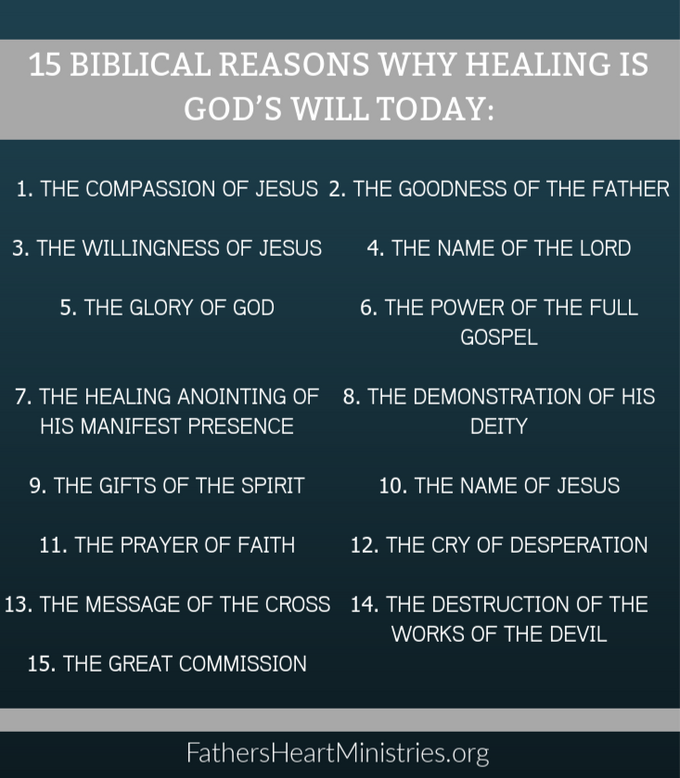 15 Biblical Reasons Why Healing is God's Will Today