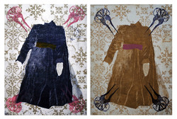 DRESS & COMBS (diptych)