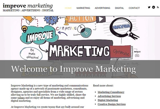 Building the Improve Marketing agency website