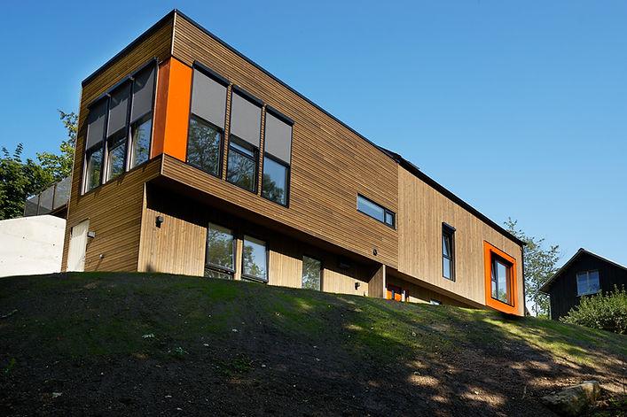 Moderne enebolig med takterrasse i Bærum| Arkplan Arkitektkontor