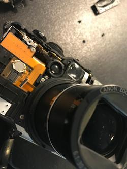 demontage appareil photo