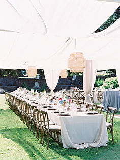 Shade Structure for a Summer Wedding