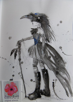 Steampunk crow princess