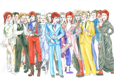 Heroes; A party of Bowies