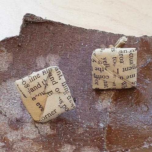Agatha Christie cufflinks for book lover.