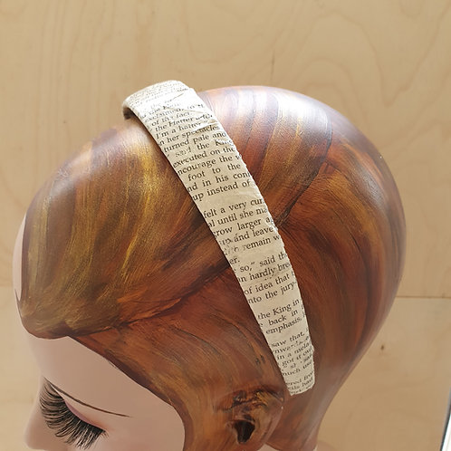 Agatha Christie headband for book lover woman.
