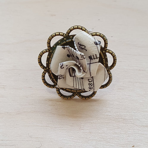 Recycled paper jewellery ring, up cycled gift