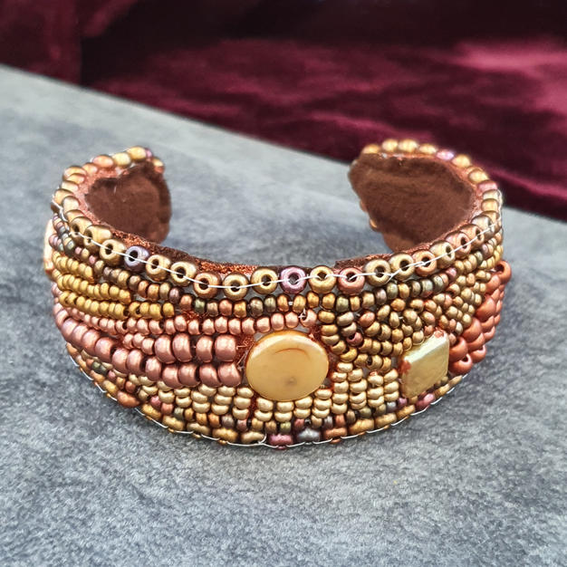 Golden and bronze bangle