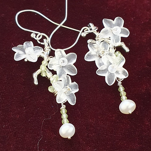 Woodland floral earrings