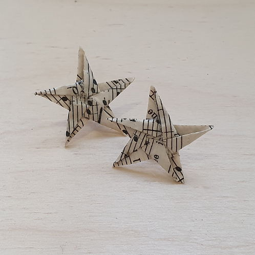 Christmas star stud earrings,