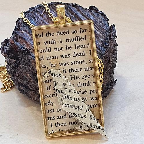 Edgar Allan Poe  raven pendant necklace, Gothic crow