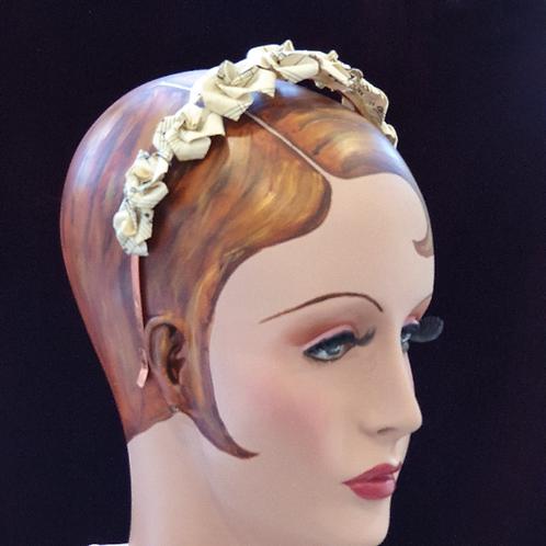 Vintage sheet music rose  crown for eco-friendly bride,