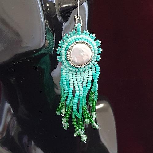 Ocean ombre drop earrings
