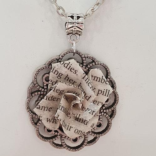 Vintage style rose pendant