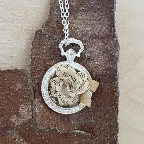 White Rabbit's pocket watch pendant