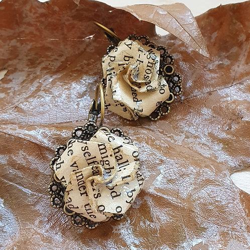 Women writers rose earrings