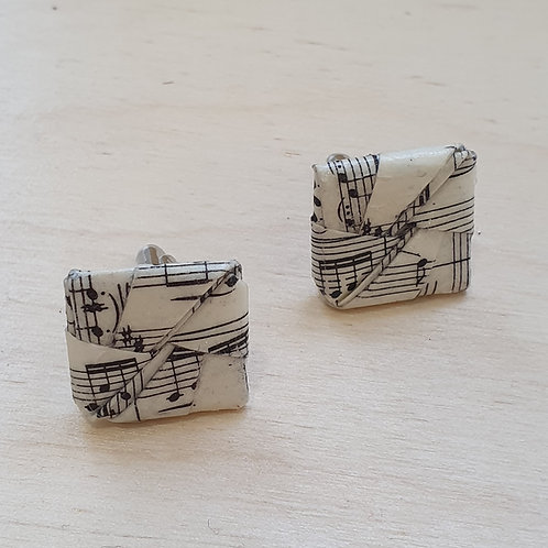 Vintage sheet music cufflinks