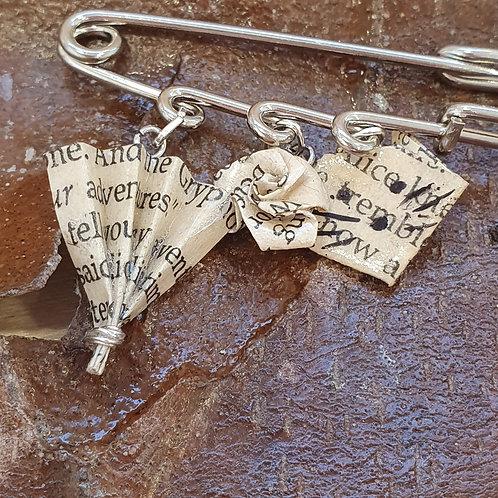 Alice's Adventures in Wonderland kilt pin brooch