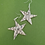 Thumbnail: Recycled paper star earrings