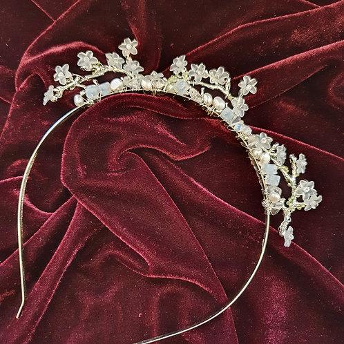 Woodland floral tiara