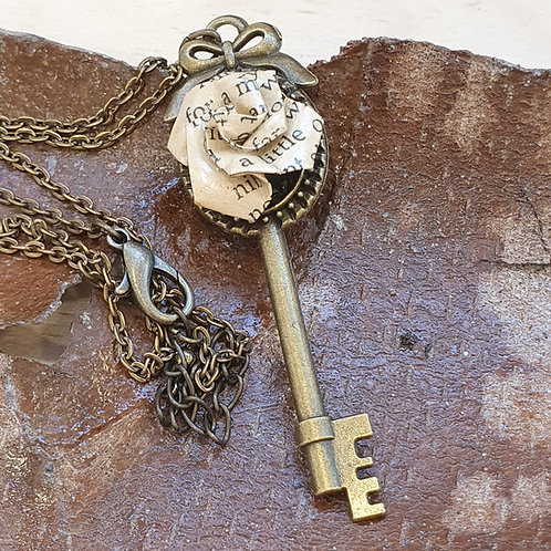 Alice's Adventures in Wonderland key pendant