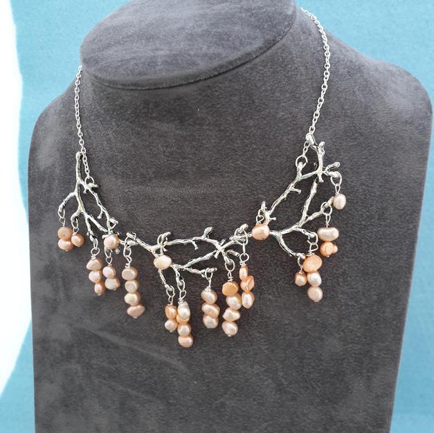 Boho wedding necklace.