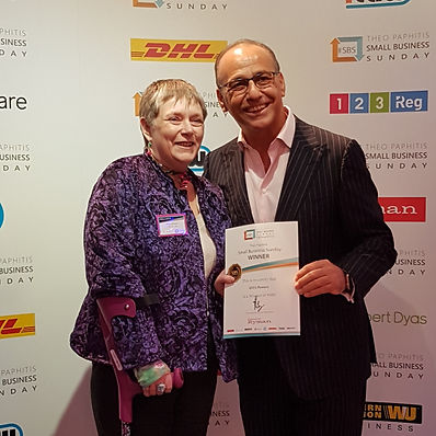 Recieving my award from Theo Paphitis