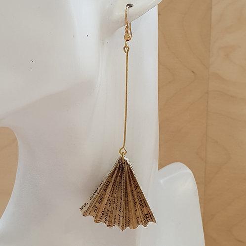 Long art deco style earrings,