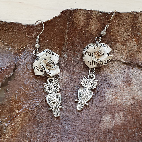 Winnie the Pooh owl drop earrings