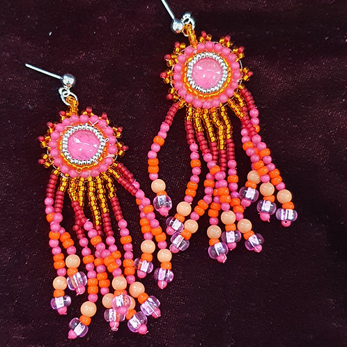 Summer brights long dangle earrings