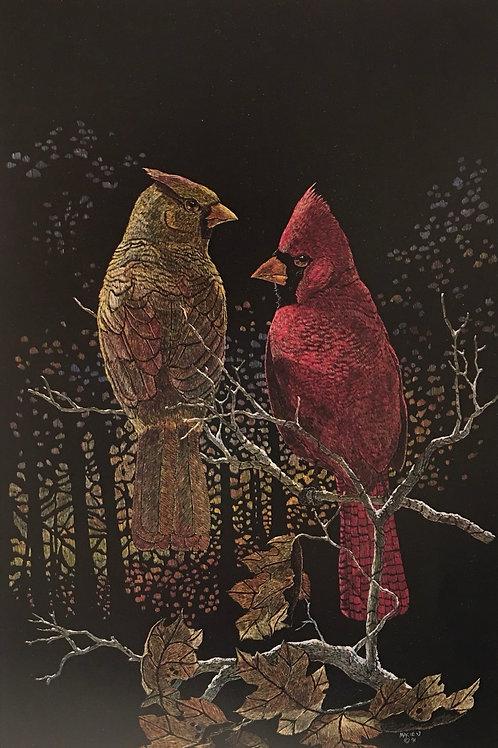 Fall Color cardinal