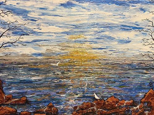 Ocean sceney painting