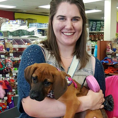 Her mom and 2-time adopter!